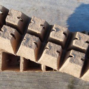 24 Pots carrés biodégradables
