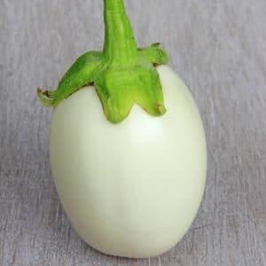 Aubergine blanche ronde à œuf
